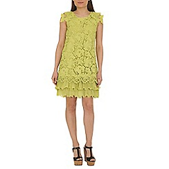 Jolie Moi - Lime crochet a-line lace dress