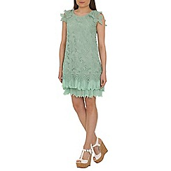 Jolie Moi - Light green crochet a-line lace dress