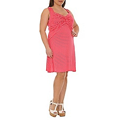 Samya - Pink polka dot strap dress