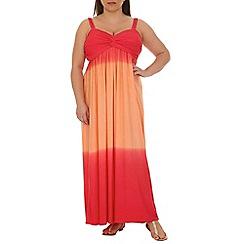 Samya - Orange tie dye maxi dress