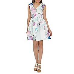 Closet - Purple blossom skater dress