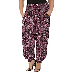 Samya - Purple patterned harem pants