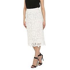 Izabel London - Cream crochet skirt