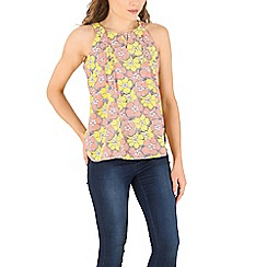Izabel London - Yellow floral print top