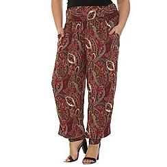 Samya - Pink paisley print pants