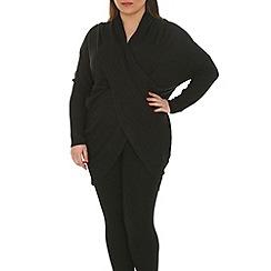 Samya - Black twist front tunic top