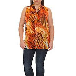 Samya - Orange front tie top