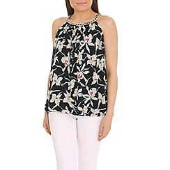 Jumpo London - White necklace chain flower print top