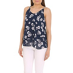 Jumpo London - Navy flower print top
