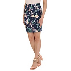 Jumpo London - Navy flower print skirt