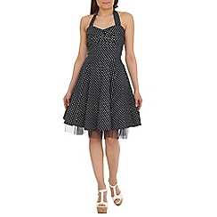 Jumpo London - Navy polka dot dress