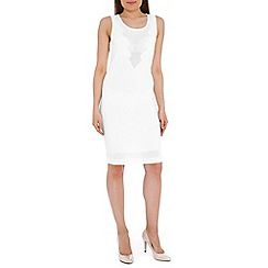 Belle by Badgley Mischka - Ivory knit bodycon dress