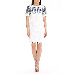 Belle by Badgley Mischka - White printed lace dress