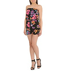 Ayarisa - Multicoloured drawstring bandeau playsuit