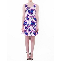Wolf & Whistle - Purple floral racer dress