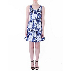 Wolf & Whistle - Blue crystal racer dress