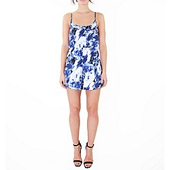 Wolf & Whistle - Blue crystal strappy playsuit