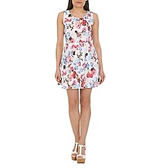 Pussycat London - White floral print dress with pocket