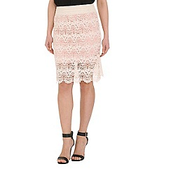 Pussycat London - Cream crochet pencil skirt