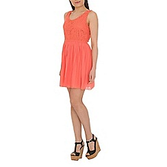 Pussycat London - Peach lace skater dress
