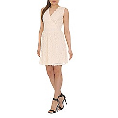 Pussycat London - Cream lace crossover dress