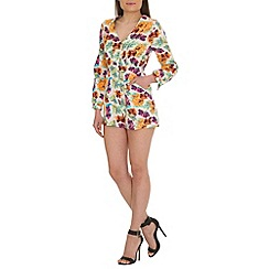 Madam Rage - Multi-coloured long sleeve playsuit