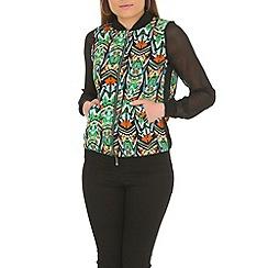 Madam Rage - Green african bomber jacket