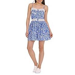 Madam Rage - Blue lace trim dress