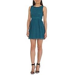 Tenki - Turquoise chiffon dress