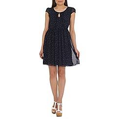 Tenki - Blue polka dot dress