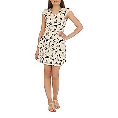 Tenki - Cream bird print dress