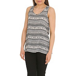Tenki - White tribal print top