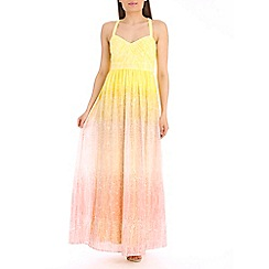 Belle by Badgley Mischka - Yellow halter dress