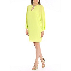 Belle by Badgley Mischka - Lime front key hole dress