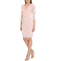 Belle by Badgley Mischka - Pink banded lace dress