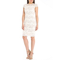 Belle by Badgley Mischka - Cream sheer banded dress