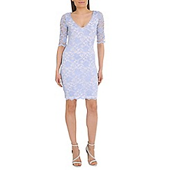 Belle by Badgley Mischka - Purple bodycon v neck dress