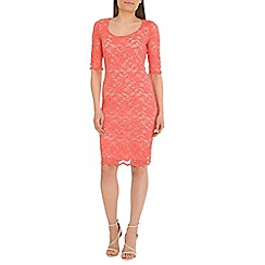 Belle by Badgley Mischka - Peach lace dress