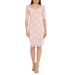 Belle by Badgley Mischka - Pink lace dress
