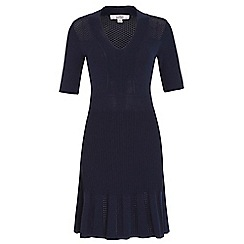 Belle by Badgley Mischka - Navy knit 'v' neck dress