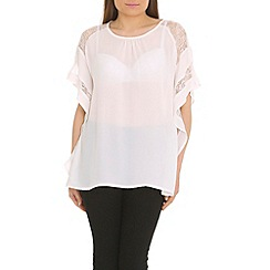 Voulez Vous - White lace sleeve panel top