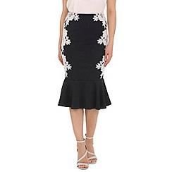 Jolie Moi - Navy vintage fishtail skirt