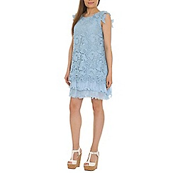 Jolie Moi - Light blue crochet lace dress