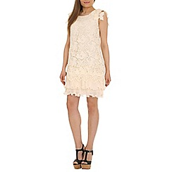 Jolie Moi - Cream crochet lace dress