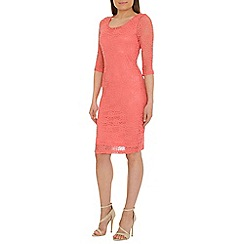 Alice & You - Peach lace layer midi dress