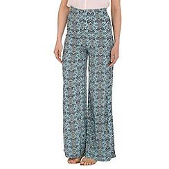 Voulez Vous - Blue paisley high waist palazzo pants