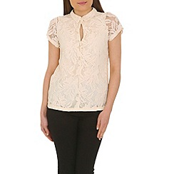 Cutie - Cream collared lace top