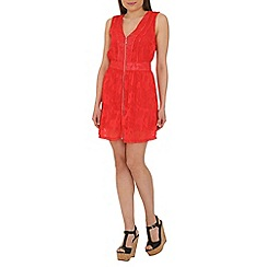 Cutie - Red zip detail sleeveless dress