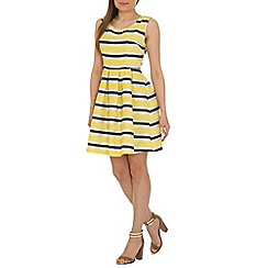 Cutie - Yellow textured stripe dress