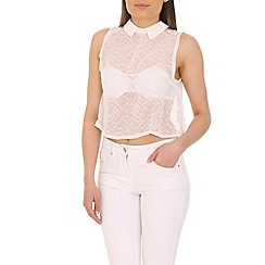 Cutie - White loose fit crop top